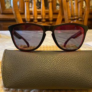 Oakley Black & Red Tint Frogskins Sunglasses NWT
